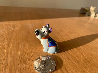 WADE Whimsie Lady And Tramp Disney Hat Box - Rare JOCK With Blue COAT • 3£