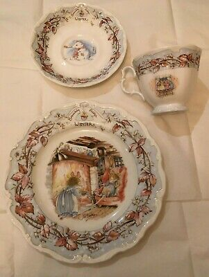 Brambly Hedge, Royal Doulton, Winter Tea Plate With Teacup And Saucer • 15£