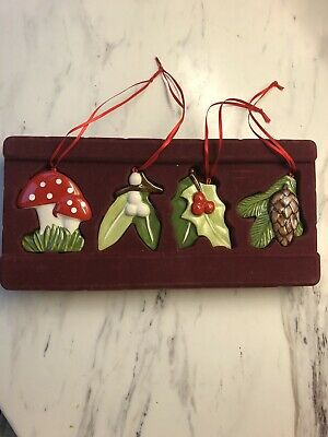 Villeroy And Boch Christmas Nostalgic Ornaments WOODLAND THEME Immaculate • 20£