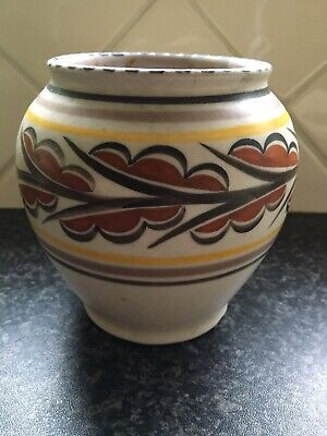 Carter Stabler Adams Poole Pottery Vase C1920 Signed. Art Deco 4 1/2 Inches High • 25£