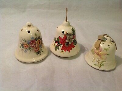 3 Bell Shaped Pot Pourri Pomanders - Aidees Devon X 1 & Lownds Pateman X 2 • 1.99£