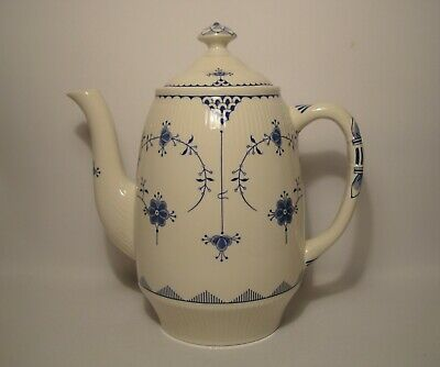 Furnivals Denmark ~ Blue 2 Pint Coffee Pot In Very Good Condition • 24.50£