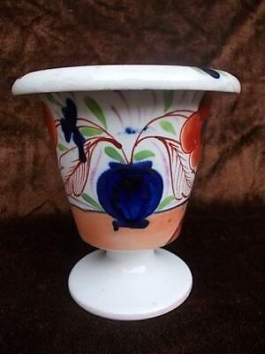 1505 / Antique 19th Century Hand Painted Pottery Gaudy Welsh Urn • 14.99£