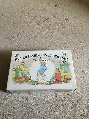 Beatrix Potter Peter Rabbit 3 Piece Nursery Set By Wedgewood Original Box New • 20£