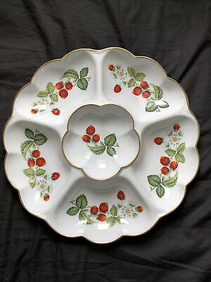 Boxed Royal Worcester Large Strawberries Crudite/Hors D'Oeuvres Dish • 20£