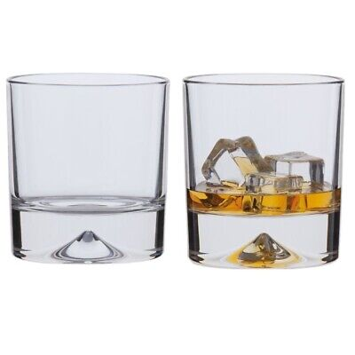 PAIR Of DARTINGTON - DOUBLE OLD FASHIONED -  EXMOOR  WHISKY GLASSES, 10.5cm HIGH • 7.50£