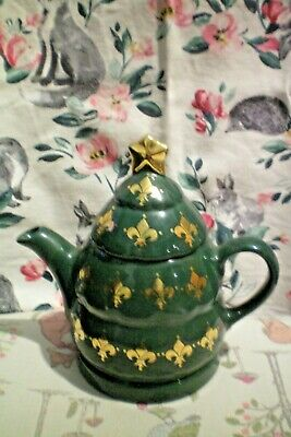 Christmas Tea Pot By Wade Green & Gold Very Good Used Condition Collectable • 29.99£