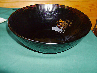 Bormioli Rocco Amethyst Palatia Hammered Dimmpled Salad Or Serving Bowl • 5.84£
