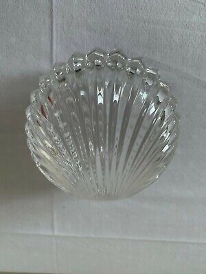 TWO CLEAR GLASS TRINKET DISHES Fit Together Clam Shell Design Perfect Condition • 9.99£