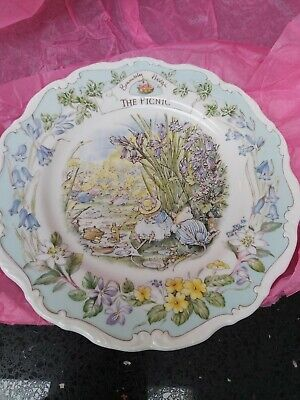 Royal Doulton Brambly Hedge 8  Plate  THE PICNIC 1st Quality • 21£
