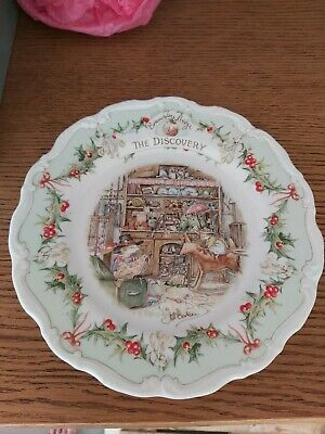 Royal Doulton Brambly Hedge, The Discovery,  8  Plate Midwinter Series. • 12.50£