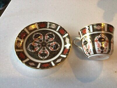 Royal Crown Derby Old Imari Tea Cup And Saucer • 45£