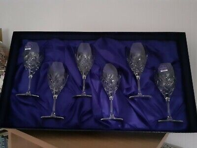 Royal Doulton Juliette Sherry Port Glasses Box Set Of 6 Crystal Etched To Base • 50£