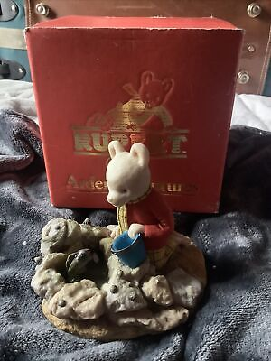 RARE Arden Sculptures RUPERT BEAR Christopher  Holt Figure - R035 Mint Cond • 50£
