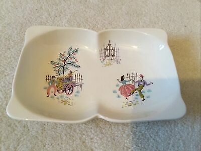 Beswick Frolic Dish Two Section Hors D'Oeuvres Vintage Retro Kitsch No 1445 • 9.99£