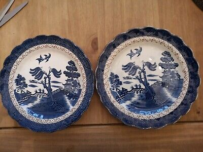 Real Old Willow Side Plates By Booths • 10.10£