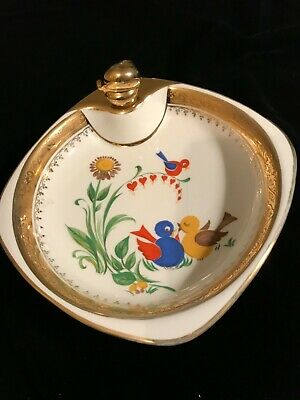 French Vintage Baby Dish Food Warmer 'Assiette A Bouillie' • 7.50£