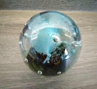 Isle Of Wight Glass Splash Paperweight - With Original Label. • 10.99£