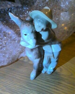 """Lladro 1181 Retired Figurine Boy With Donkey 8"""" Tall Mint Condition • 26£"""