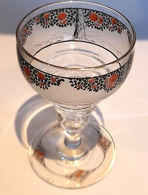 1920s Crown Ducal Orange Tree Small Liqueur Or Sherry Glass  • 75£