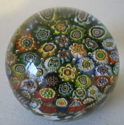 Lovely Good Quality Millefiori Glass Paperweight • 3.99£