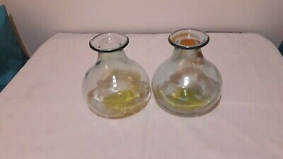 Pair Of Glass Vases • 4£