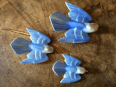 Vintage Poole Pottery Flying Bluebirds • 150£