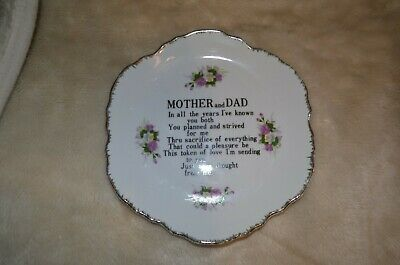 Mother And Dad Ornate Plate • 1.50£