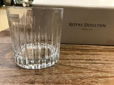 Royal Doulton Linear Crystal Glass Tumblers 250ml 6 Pack Boxed. BRAND NEW! • 41.99£
