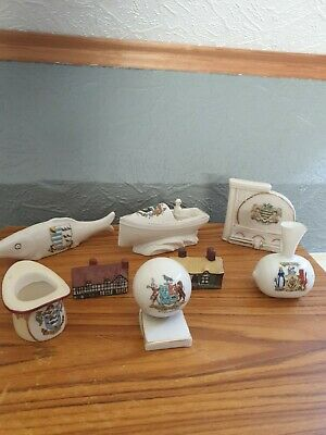 Collection Of Crested China Job Lot Including Shelley Motorboat • 20£