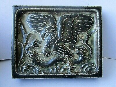 Royal Copenhagen Eagle Attacking Snake Stone Ware Plaque By Knud Kyhn - 21719 • 200£