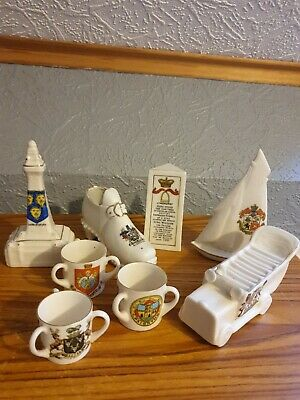 Job Lot Crested China Including Ww1 Charabanc Collection • 10£
