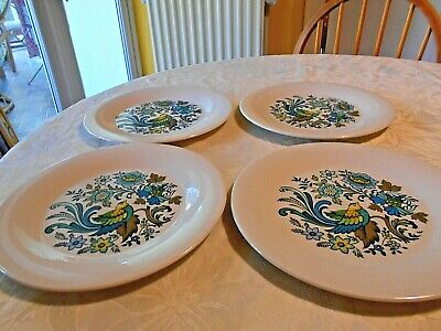 Royal Doulton Everglades-set Of 4 Dinner Plates (TC1083) • 25£