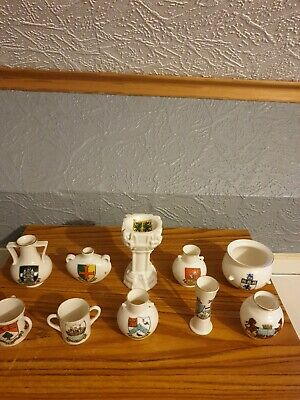 WH GOSS Job Lot Of 10 Pieces Including Rare Font Crested China Collection • 15£