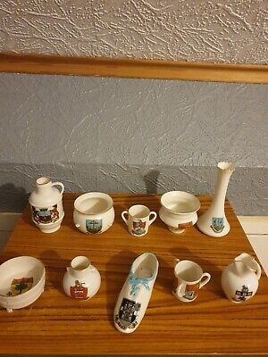 WH GOSS Job Lot Of 10 Pieces Including Victoria's 1st Shoe Crested China  • 15£