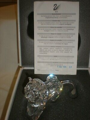 Swarovski Crystal,inspiration Africa, The Lion.  Collectors Piece,1995 Boxed • 115£