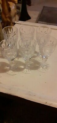 6 Chrystal Sherry Glasses Thanks For Looking  • 6£