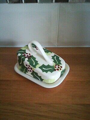 Peregrine Pottery Holly & Ivy Tiny Cheese Dish. New 1st Quality Unused  • 24.99£