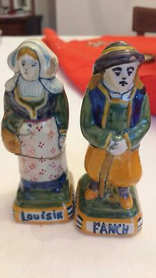 Henriot Quimper Couple Miniature Figurines (TWO FOR ONE OFFER!) • 35£