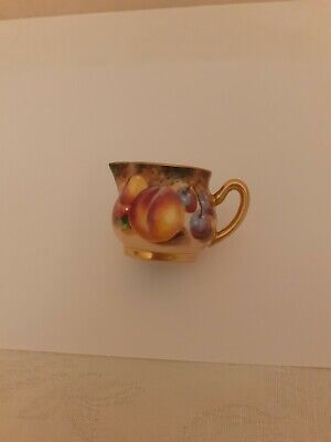 Royal Worcester Hand Painted Fruit Signed By Roberts Miniature Cream Jug  • 106£