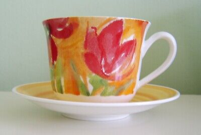 Roy Kirkham - Large Breakfast Tea Cup And Saucer - Colour Your World - Bone Chin • 14.99£
