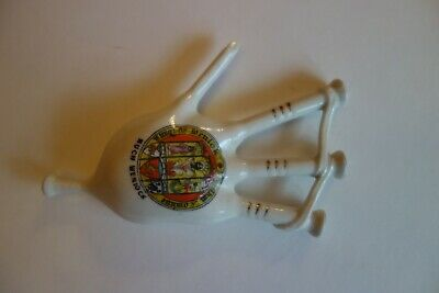 Crested China Bagpipes Savoy China Crest Of Much Wenlock • 4.99£