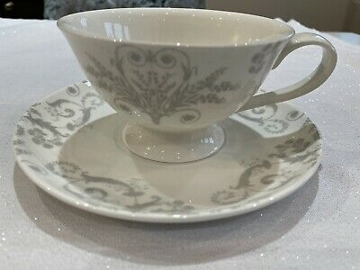 Laura Ashley Bone China Josette Dove Grey Cup And Saucer  • 15£