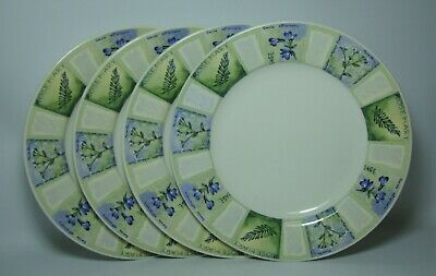 4 X WESSEX COLLECTION ~ HERBS 8  SALAD PLATES IN VERY GOOD CONDITION • 14£