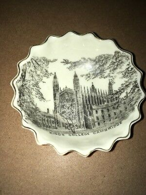 Vintage Crested China W H Goss - Pin Dish,Kings College Cambridge Transfer Print • 65£