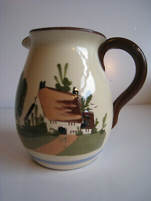 """Devon Ware Motto Jug Inscribed  One Today Is Worth Two Tomorrow"""". • 6.55£"""