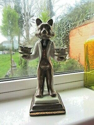 Nice Porcelain Decorative Fox Candle Holder • 19.99£