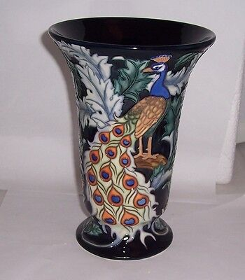 Old Tupton Ware Peacock Design Vase 8.5  TW1905 • 49.99£