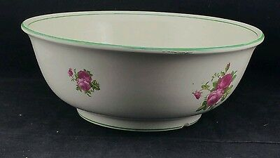 Large Transferware 14  Toilet / Wash Bowl - Barkers & Kent Decorated With Roses  • 25£