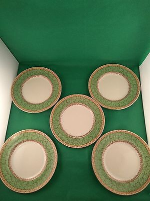 Booths Green Leaves 5 X Salad  Plates • 20£